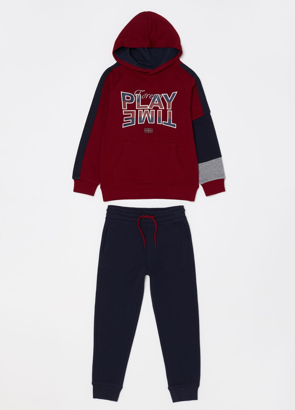 Jogging set in 100% cotton French terry