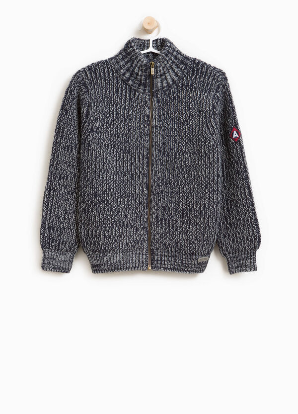 Knit pullover with zip | OVS
