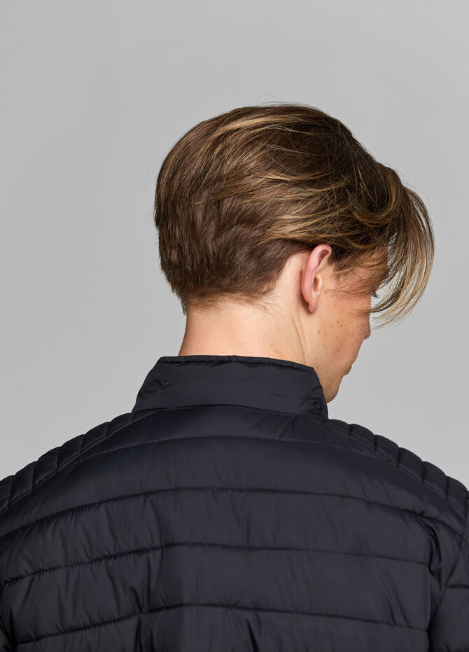 Jacket with stitching and high neck