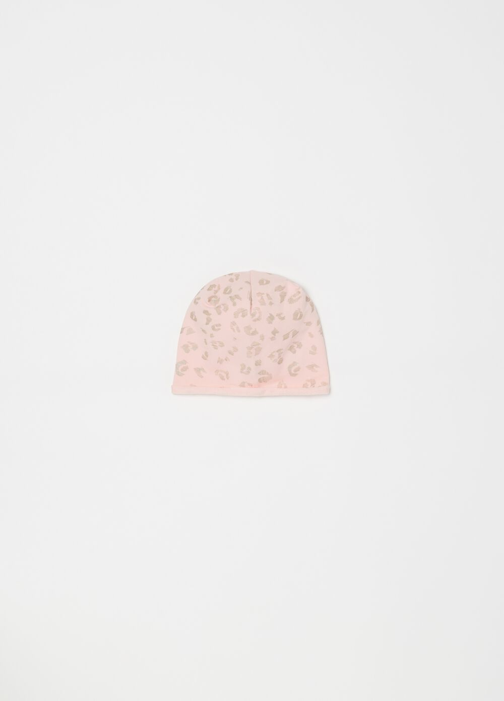 Stretch cotton hat with print