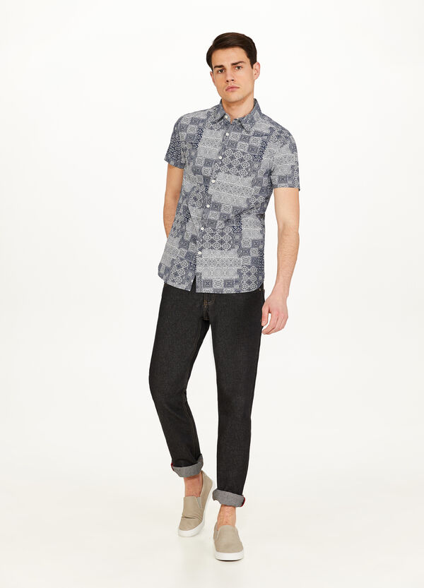 Arabian patterned casual shirt in cotton