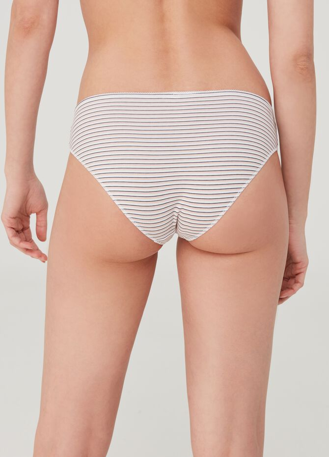 Five-pack patterned high-rise briefs