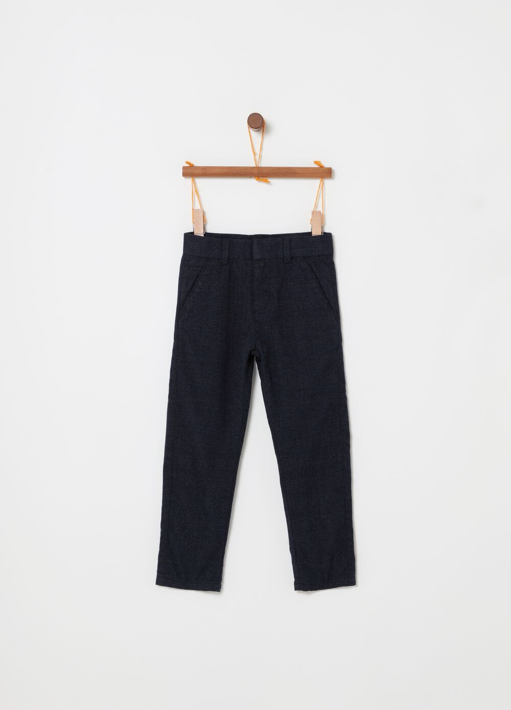 Viscose blend trousers with pockets