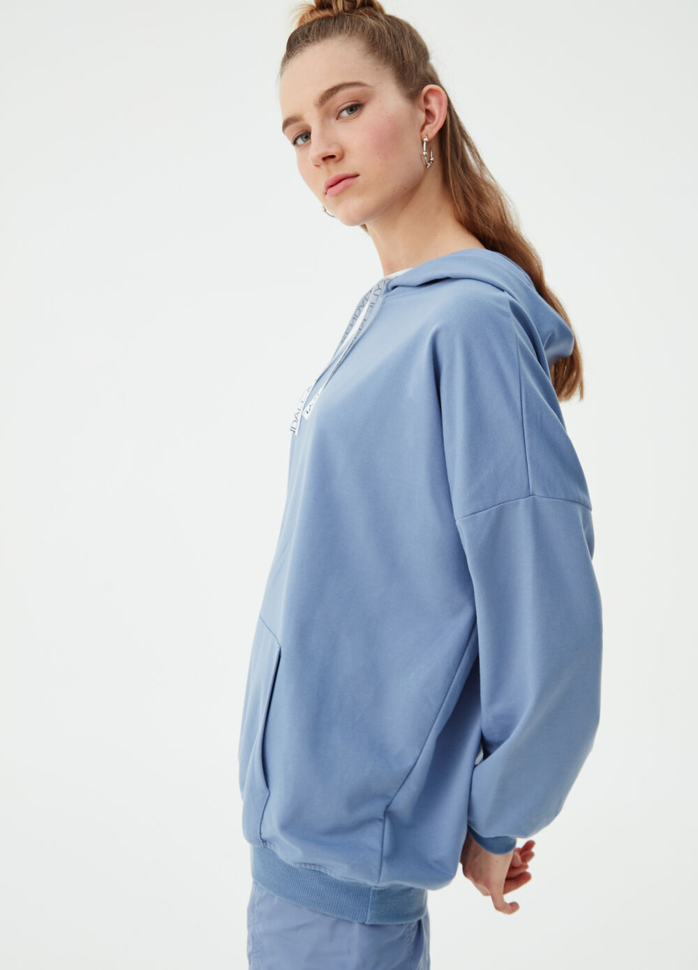 K+K for OVS oversized sweatshirt with drawstring