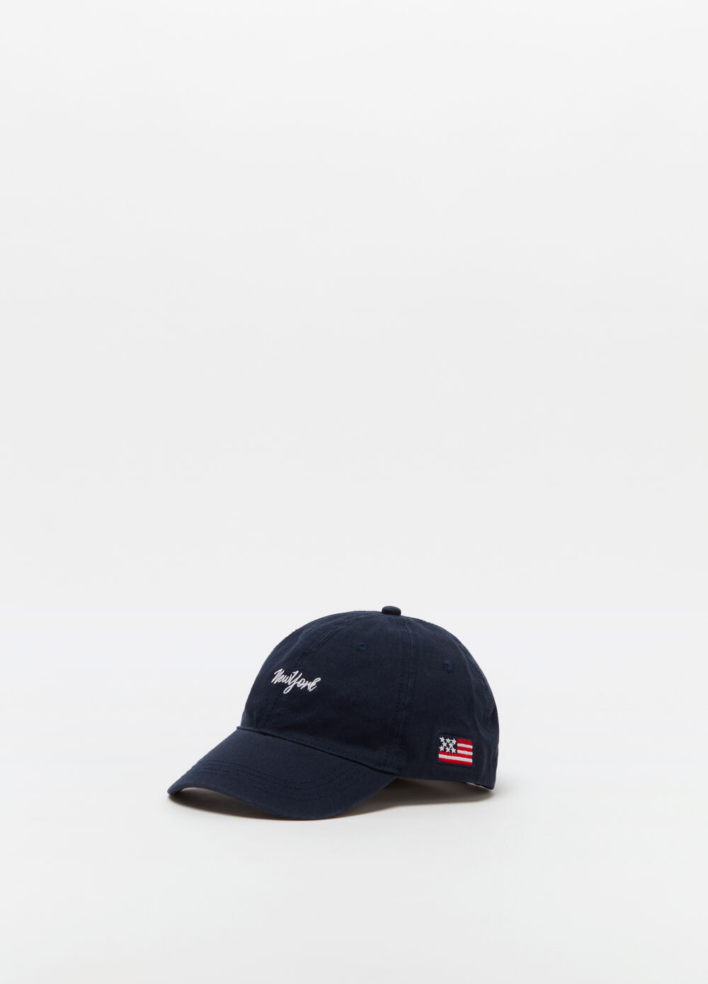 Vintage-effect baseball cap with embroidery