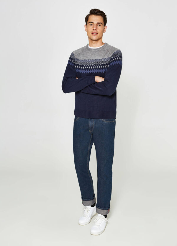 Embroidered two-tone pullover | OVS