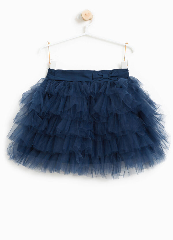 Flounced skirt in tulle with bow | OVS