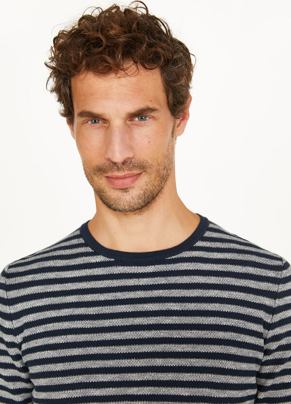Rumford striped cotton pullover