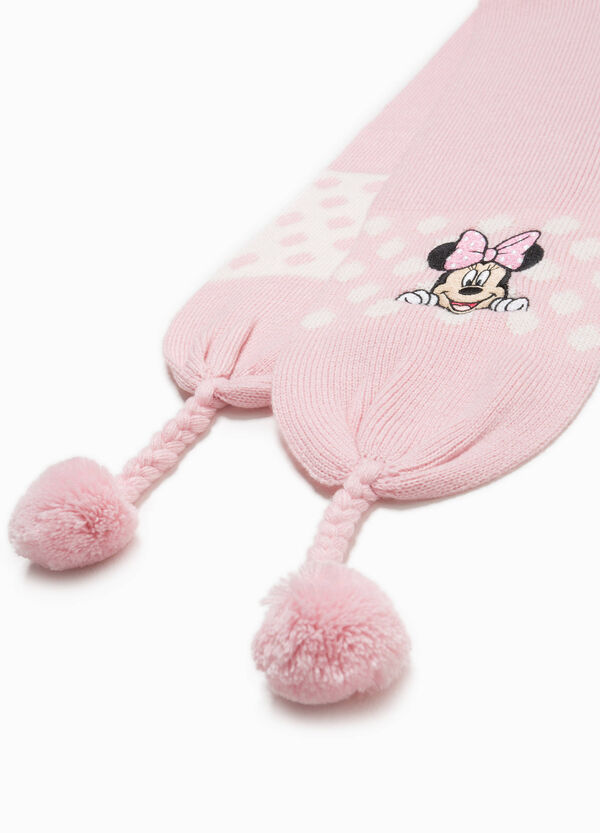 Knitted Minnie Mouse scarf with embroidery | OVS