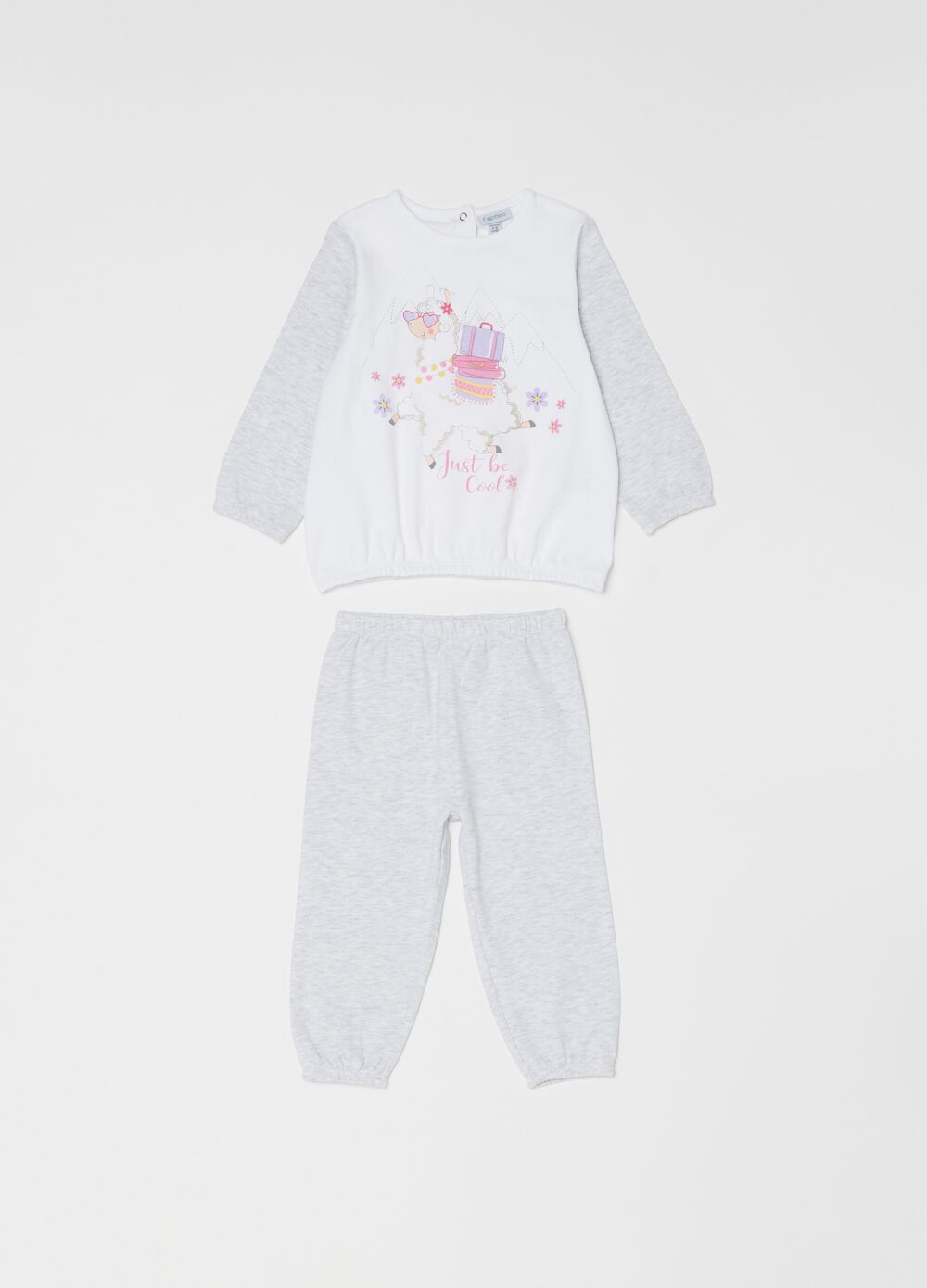 Mélange organic cotton pyjamas with print