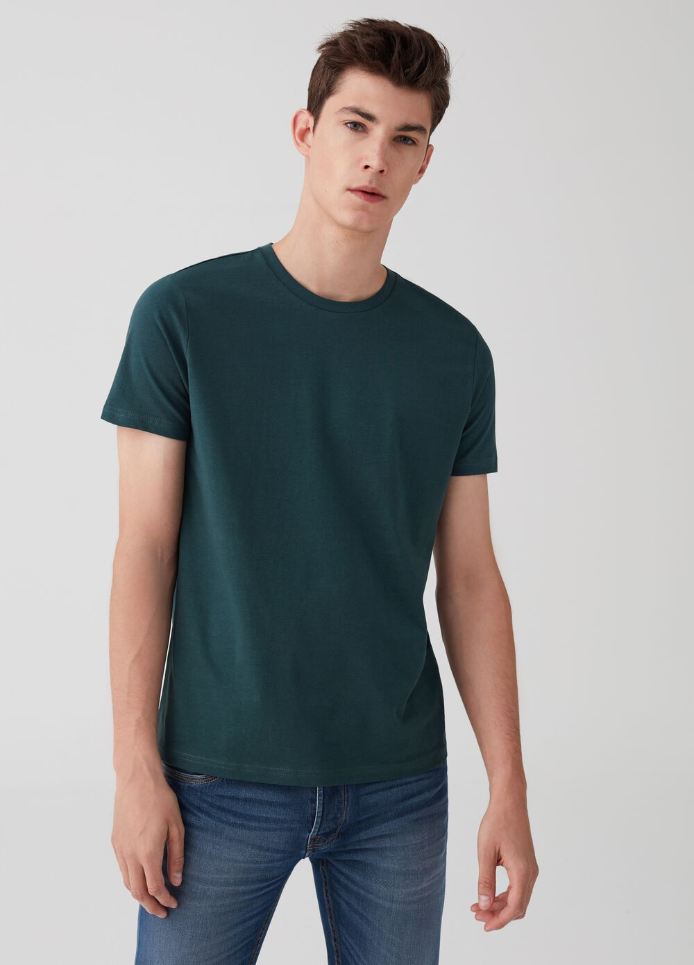 Two-pack solid colour crew neck T-shirts