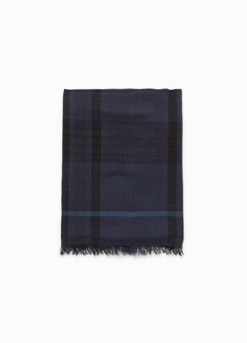 Checked cotton scarf