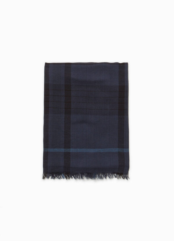 Checked cotton scarf | OVS