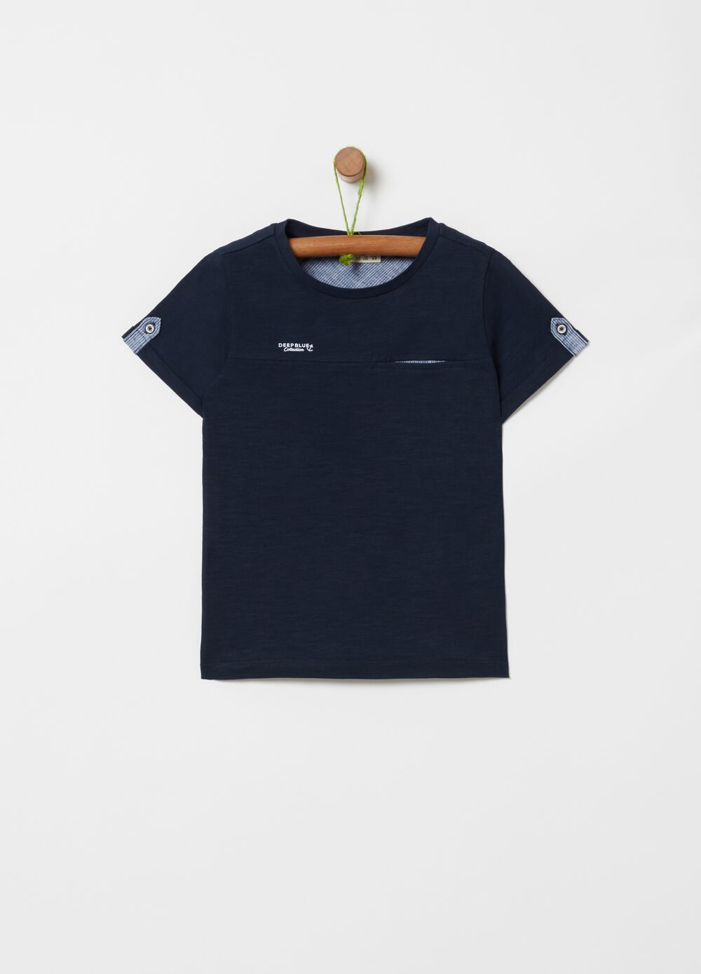 T-shirt in 100% cotton with slub weave