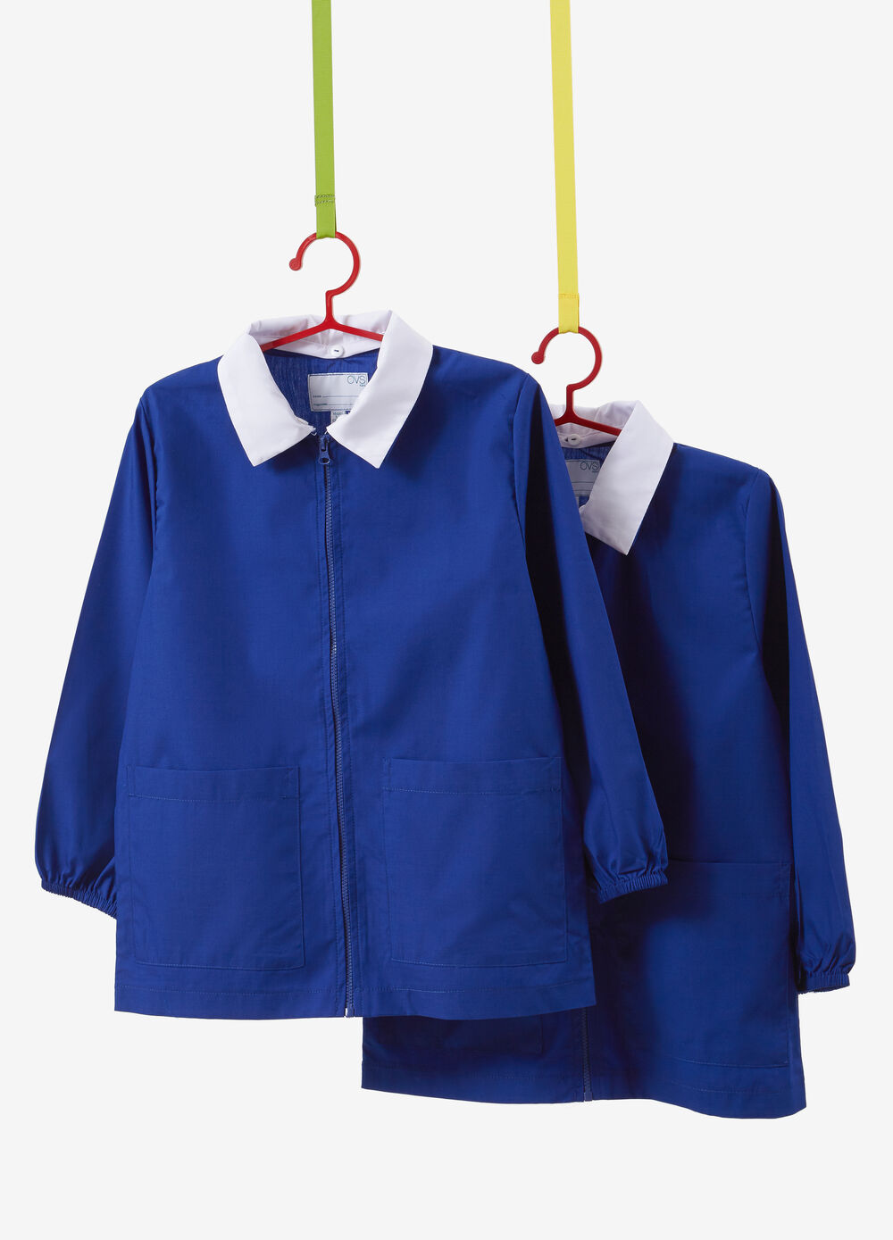 Set of two cotton blend smocks with zip