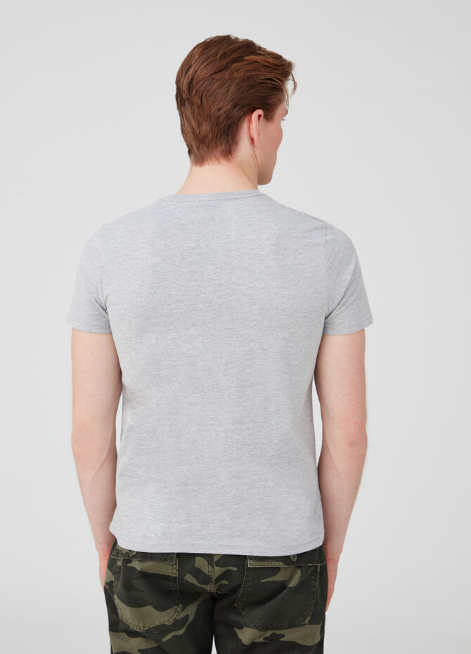 Mélange T-shirt in stretch cotton jersey