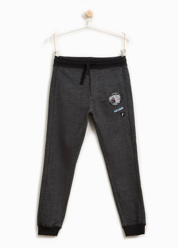100% cotton joggers with patches | OVS