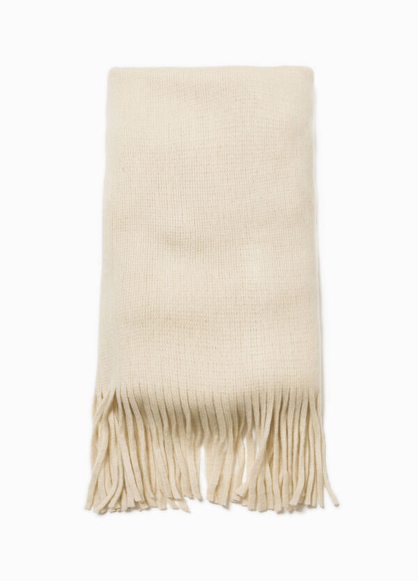 Solid colour scarf with fringe | OVS