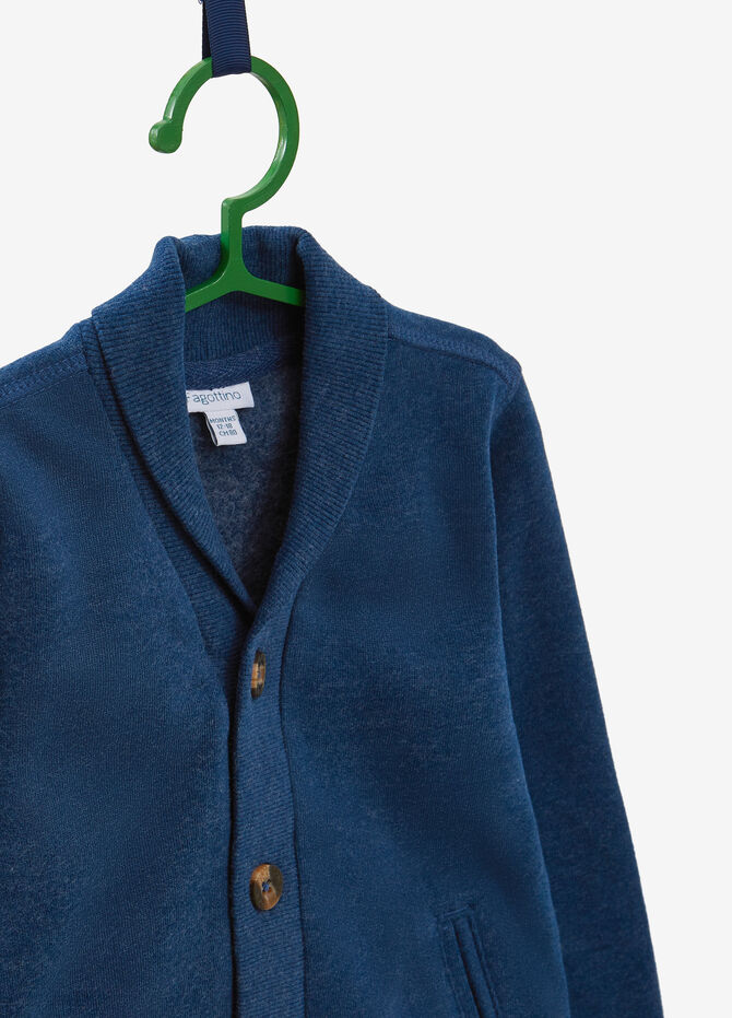 Cotton blend cardigan with buttons
