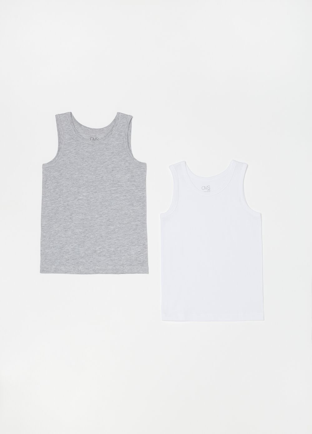 Two-pack racerback vests in organic cotton