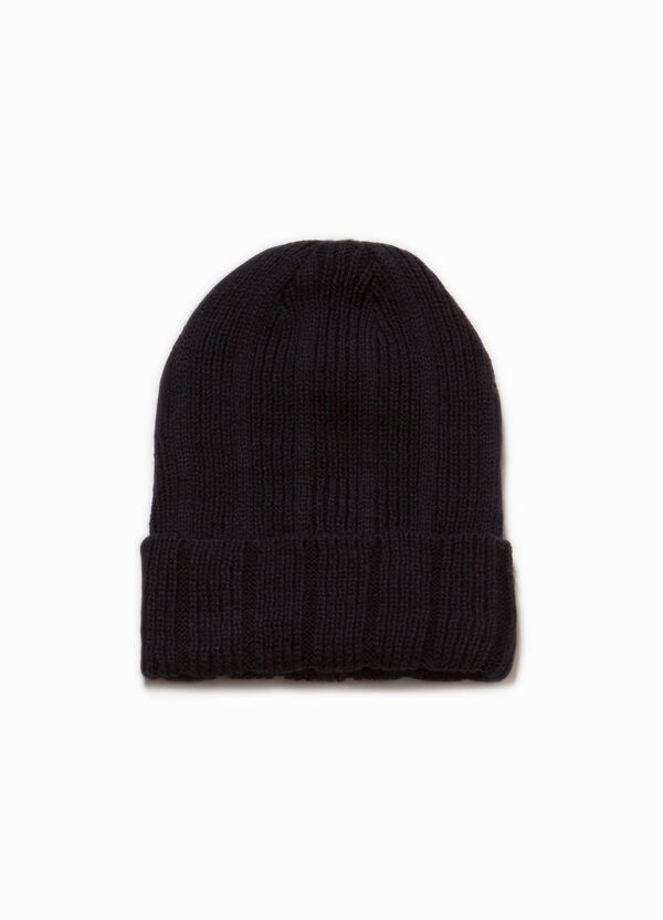 Knitted beanie cap with turn-up | OVS
