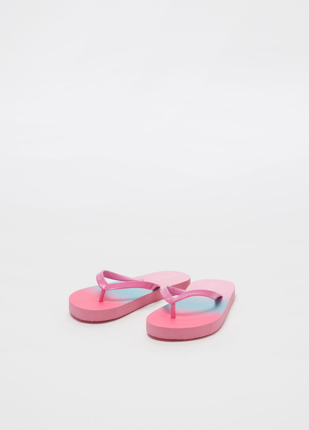 Chanclas bicolor efecto degradado