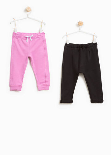 Set due pantaloni in cotone stretch