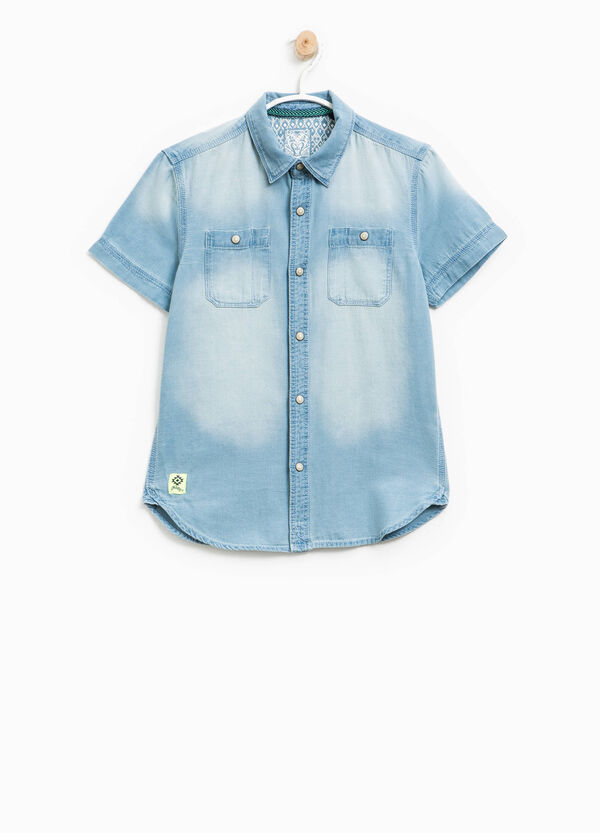 100% cotton shirt with washed effect | OVS