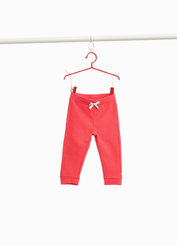 Stretch joggers with glitter drawstring