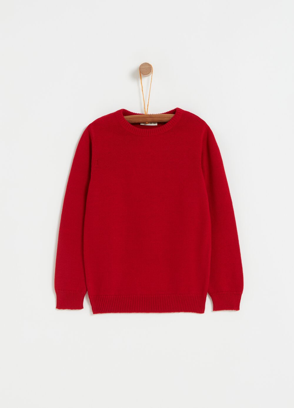 100% cotton knitted top with round neck
