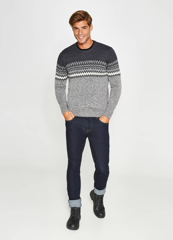 Knitted pullover in cotton blend | OVS