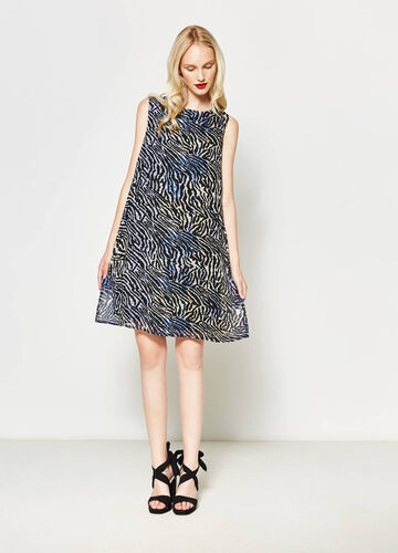 Robe sans manches avec impression all-over