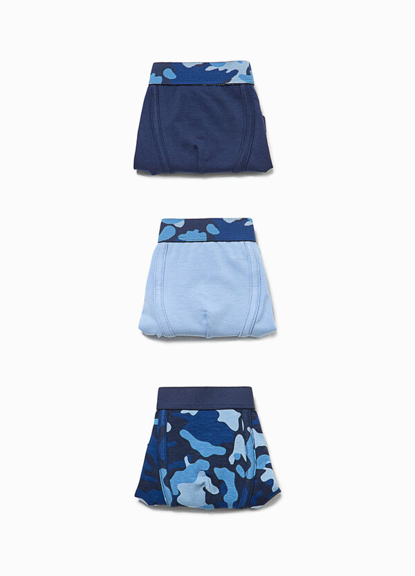 Three-pack boxer shorts with camouflage pattern | OVS