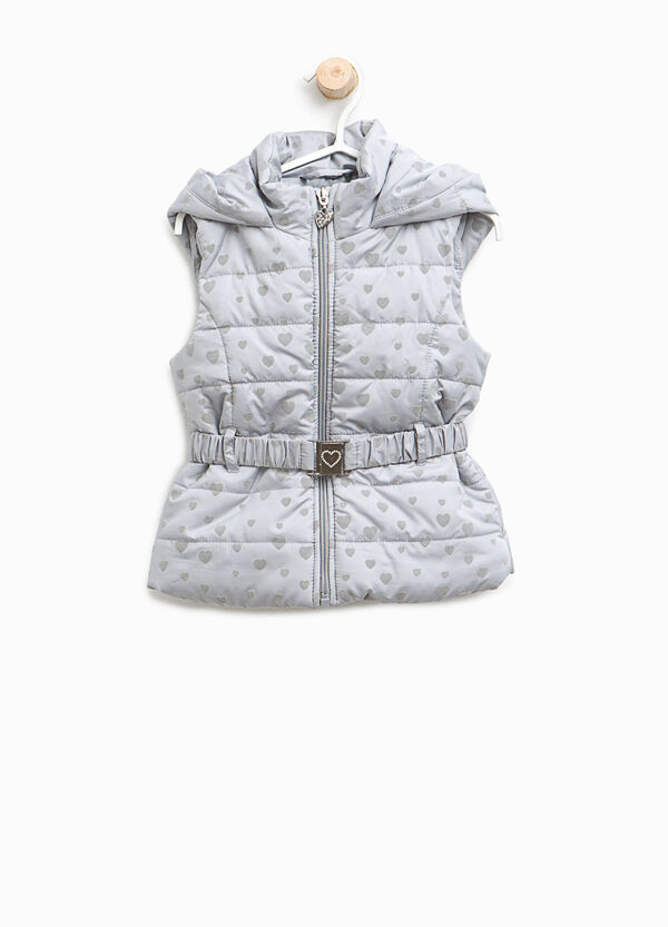 Padded gilet with hearts pattern | OVS