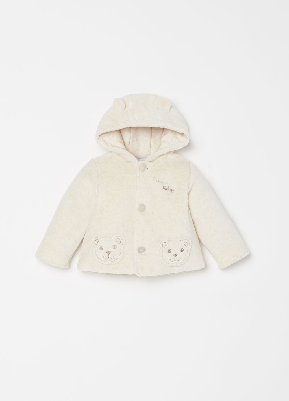 Padded jacket with THUN Teddy embroidery