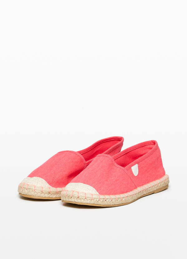 Espadrilles with canvas uppers