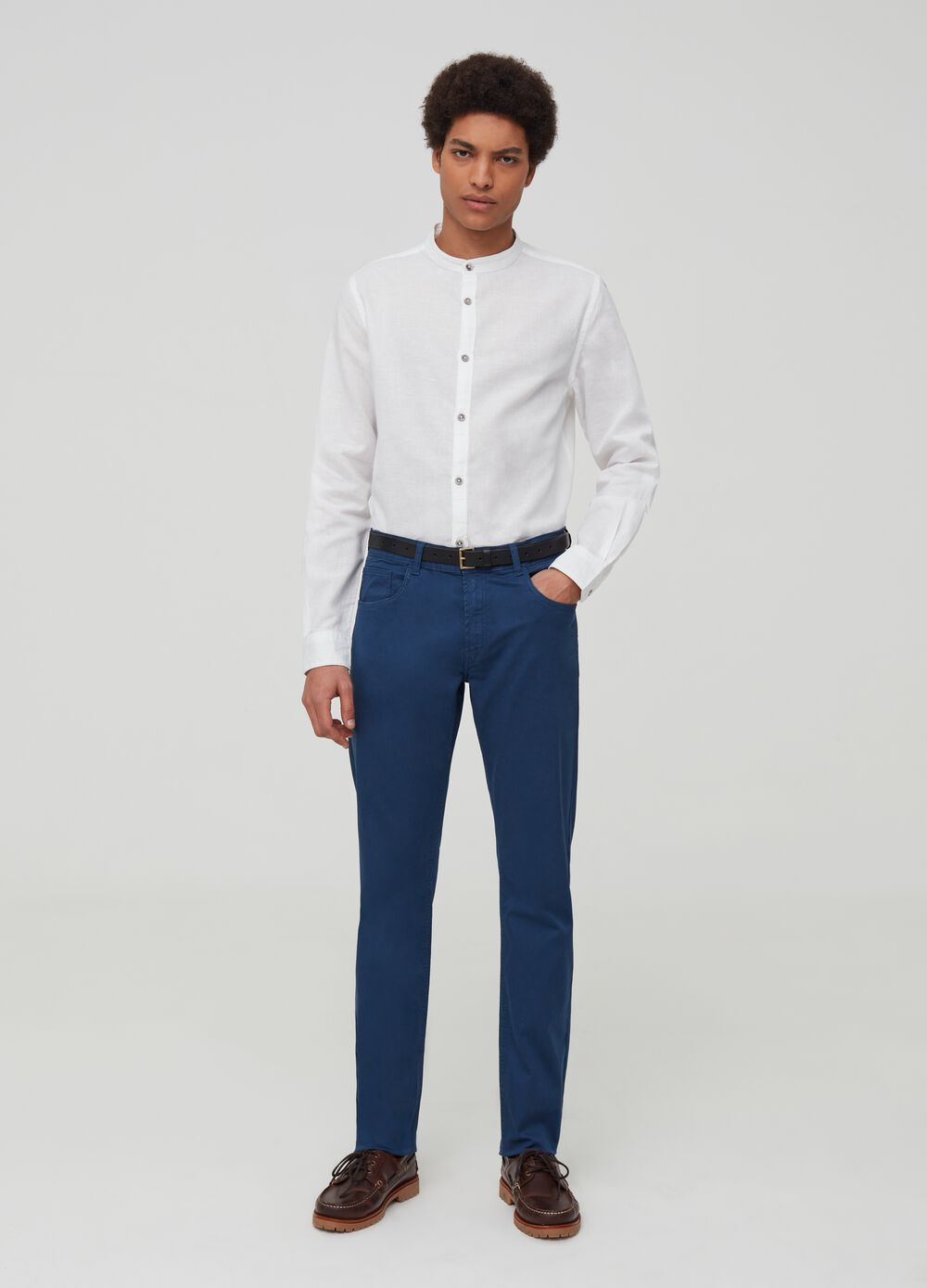 Five-pocket twill trousers