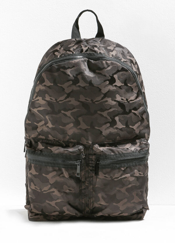 Camouflage backpack with zip | OVS