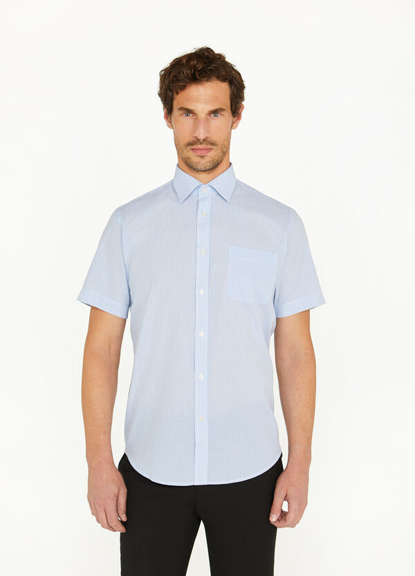 Regular-fit casual shirt with striped pattern