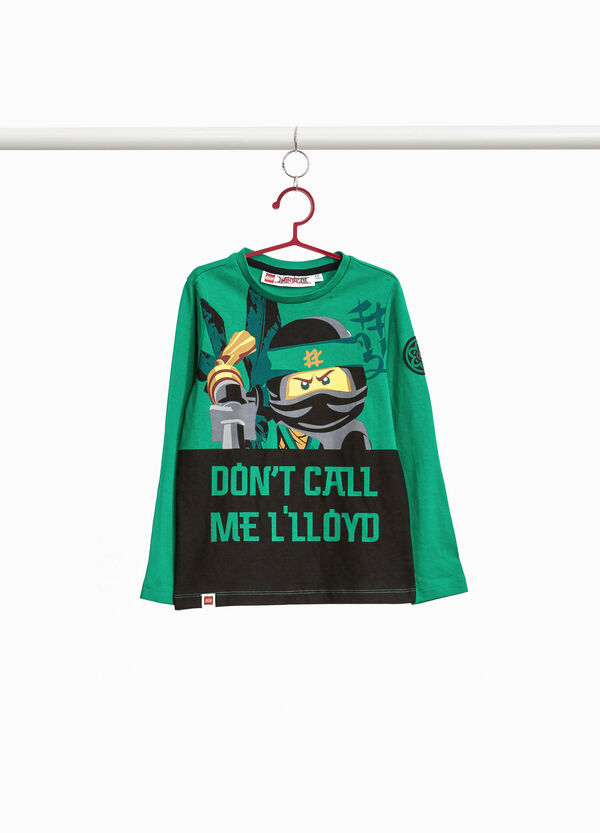T-shirt with maxi Ninjago print and patches