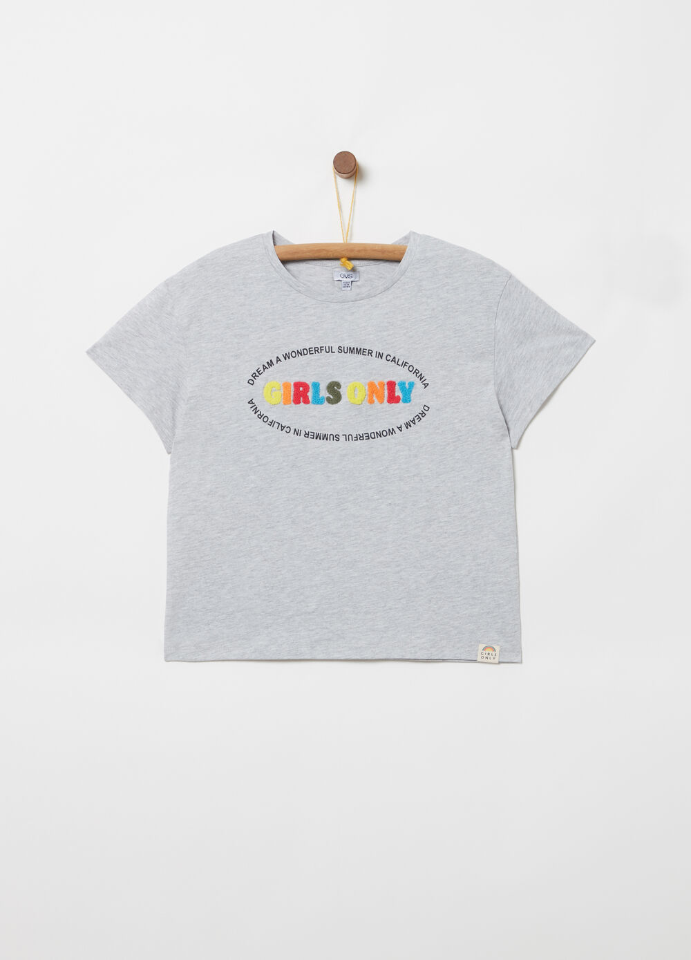 Mélange T-shirt with terry applications