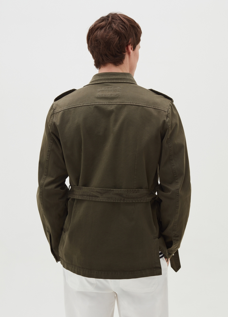 PIOMBO twill jacket with belt image number null