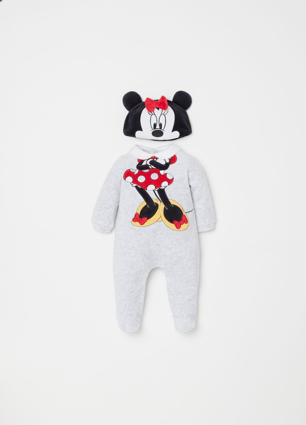 Disney Minnie Mouse hat and onesie set