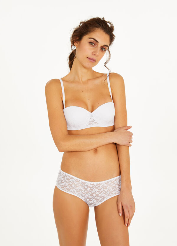 Lace bra with bow