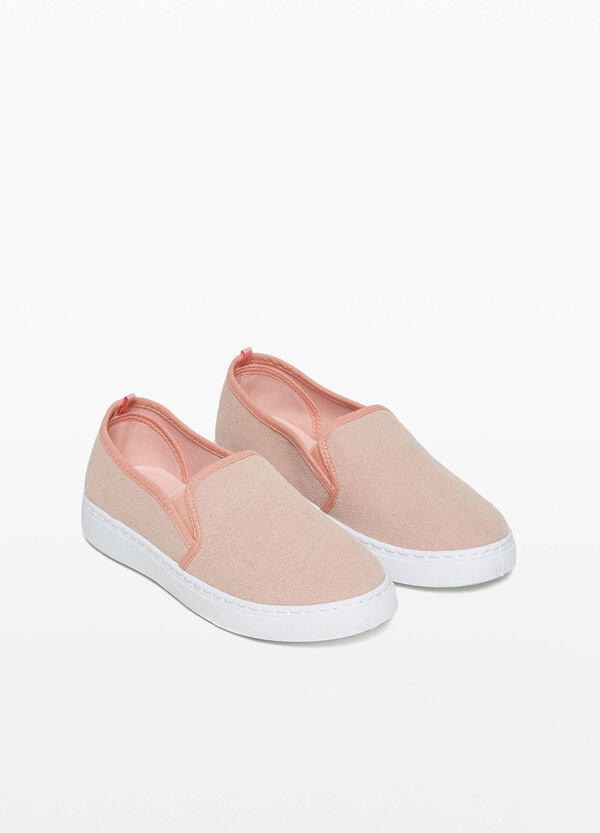 Slip-on scamosciate profilate