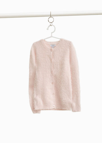 Knitted frayed pullover