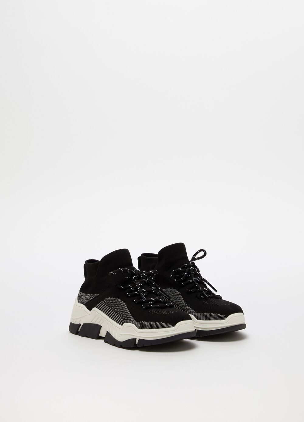Chunky sneakers with platform sole