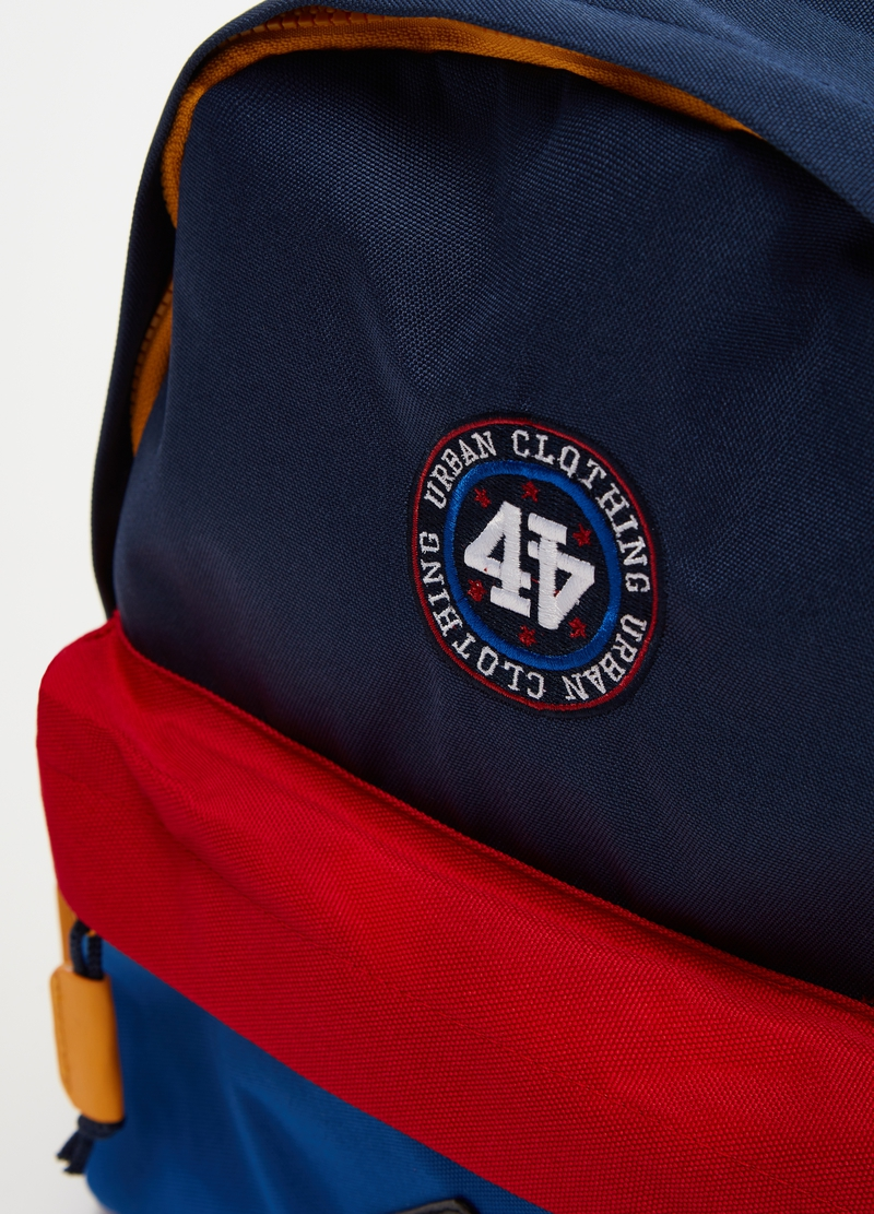 Colourblock backpack with zip image number null