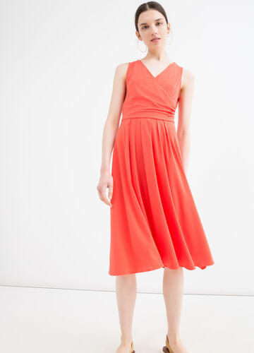 Solid colour sleeveless dress