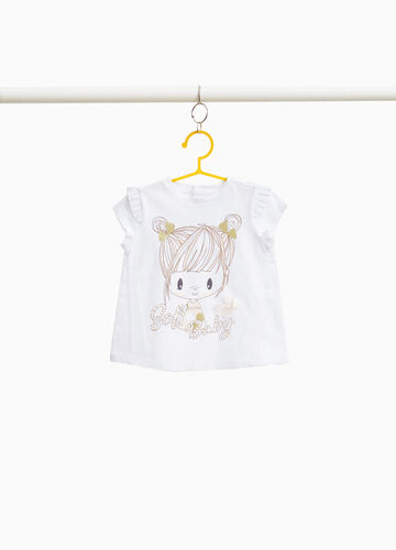 100% cotton T-shirt with girl print